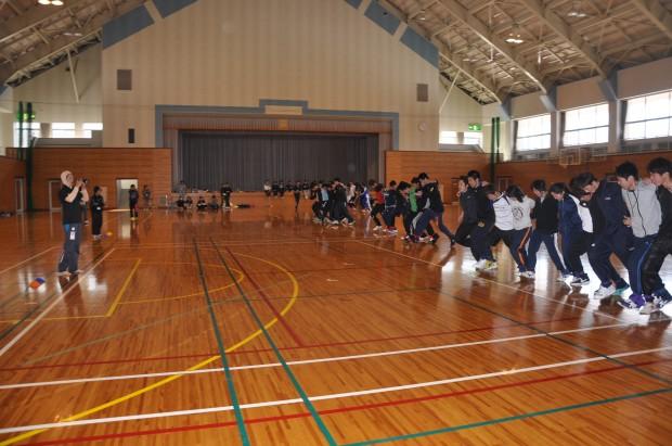 体育館での運動会