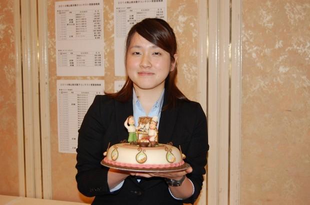 岡山県洋菓子コンテスト 西山友佳さん
