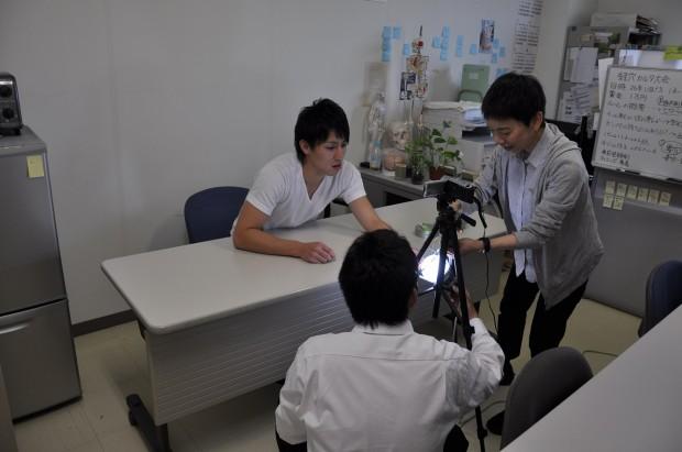 鍼灸講座撮影の様子