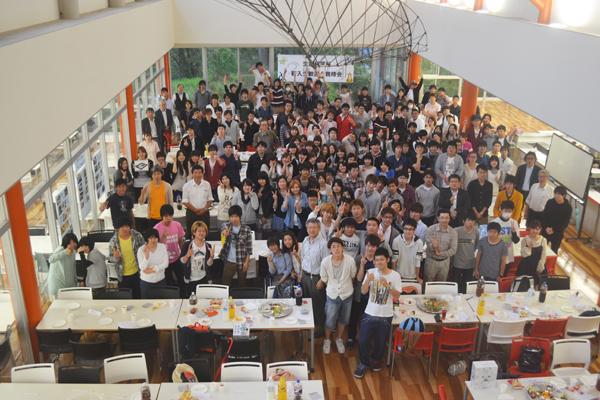 生命科学科新入生歓迎会&親睦会全体集合写真
