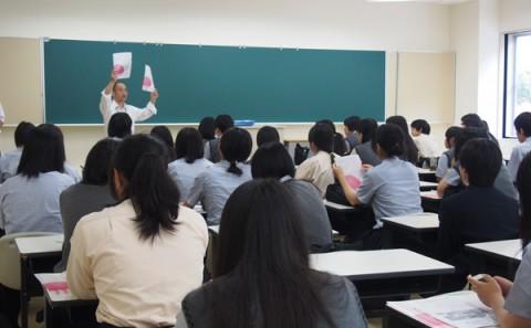 岡山理科大学附属高等学校の皆さまによる学内見学