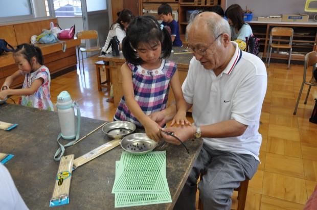 竹ひごを使ったタワー制作