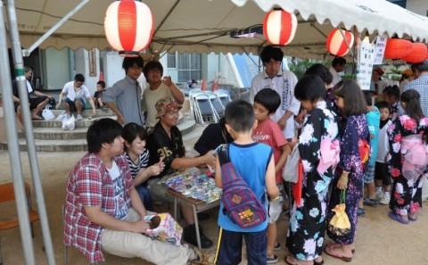 倉敷市立連島西浦小学校「額灯し」へ参加しました。