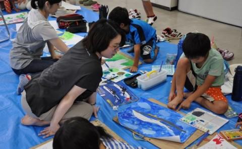 小学生向け絵画教室を開催しました!!
