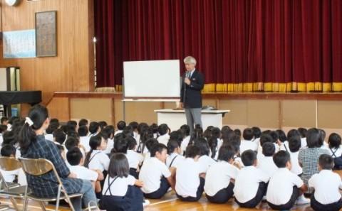 倉敷市立本荘小学校で講演会を開催しました
