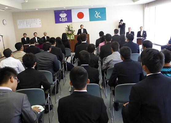 倉敷芸術科学大学留学生別科入学宣誓式