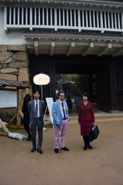 児島隗太郎先生(中央)、加計悟先生(左)、松岡智子先生(右)