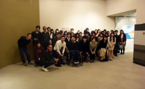 油画・現代表現コース合同展覧会「SCENE展」の講評会が開催されました。