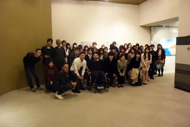 「SCENE展」の講評会集合写真