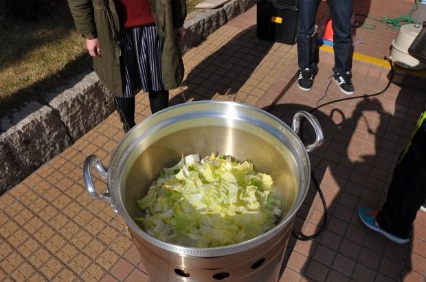 大窯と野菜