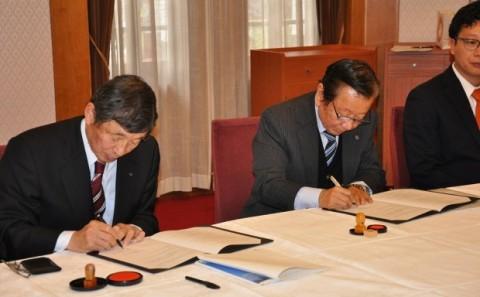 倉敷ロータリークラブとインターンシップに関する協定を結びました