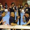 ボランティアに参加した学生