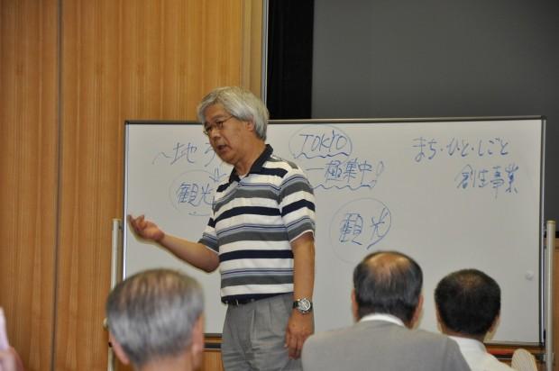 講座中の濱家先生