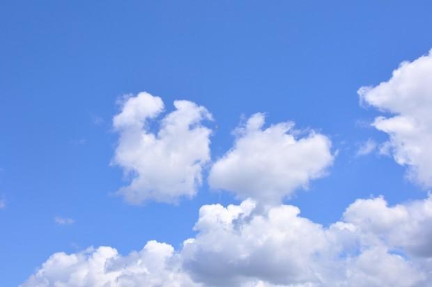 青空に飛ぶペットボトルロケット