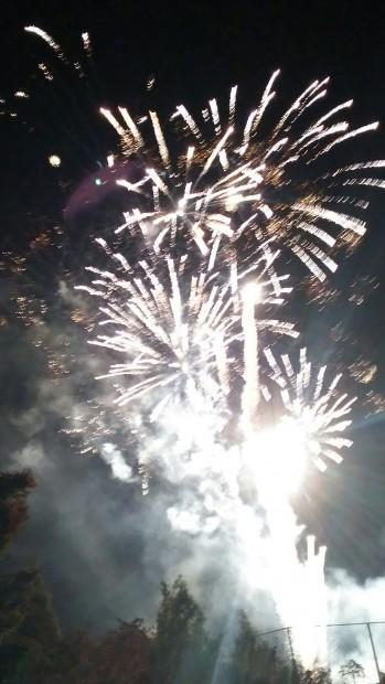 学園祭最後の花火
