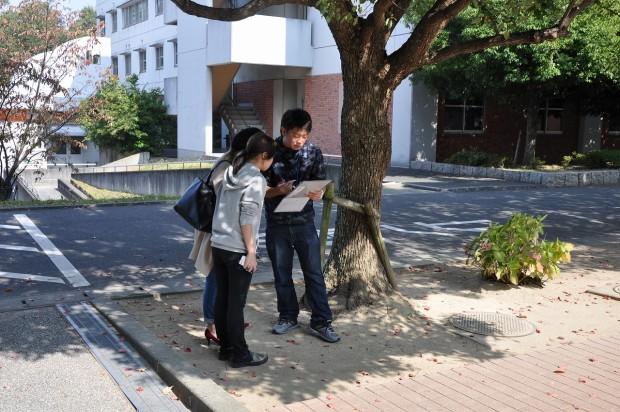 地震・震災に関する意識調査の様子