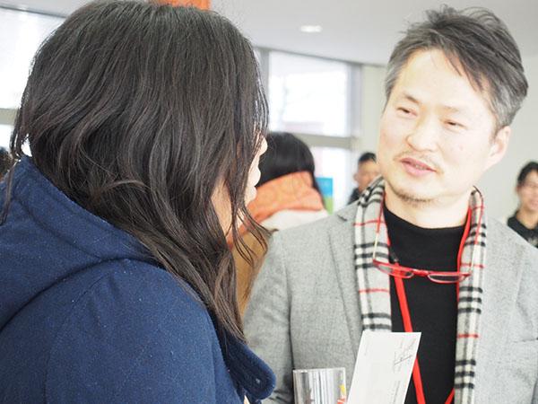 張慶南先生と卒業生