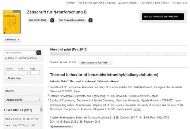 Zeitschrift für Naturforschung B