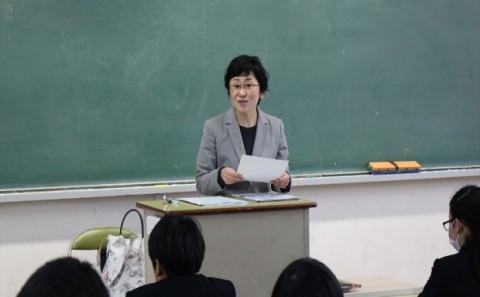江原先生が倉敷天城中学校で講演されました