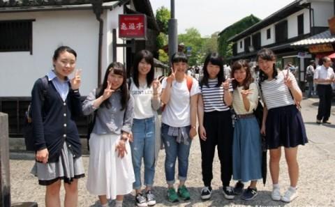 倉敷美観地区を中心に学生がフィールドワークを行いました。