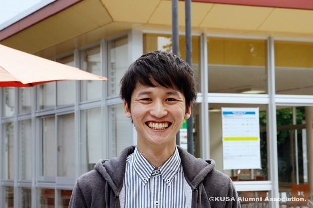 笑顔の湯淺さん