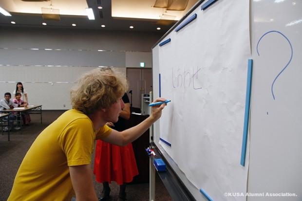 ひらかなを書く訪日文化研修団