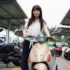 藤井さやかさんとバイク