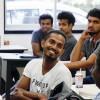 笑顔の留学生