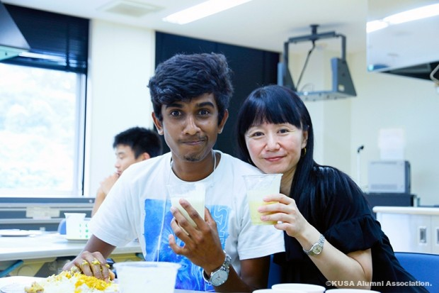 留学生と教員