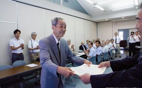 河邉(元生命科学部教授)氏に名誉教授の称号が授与されました。