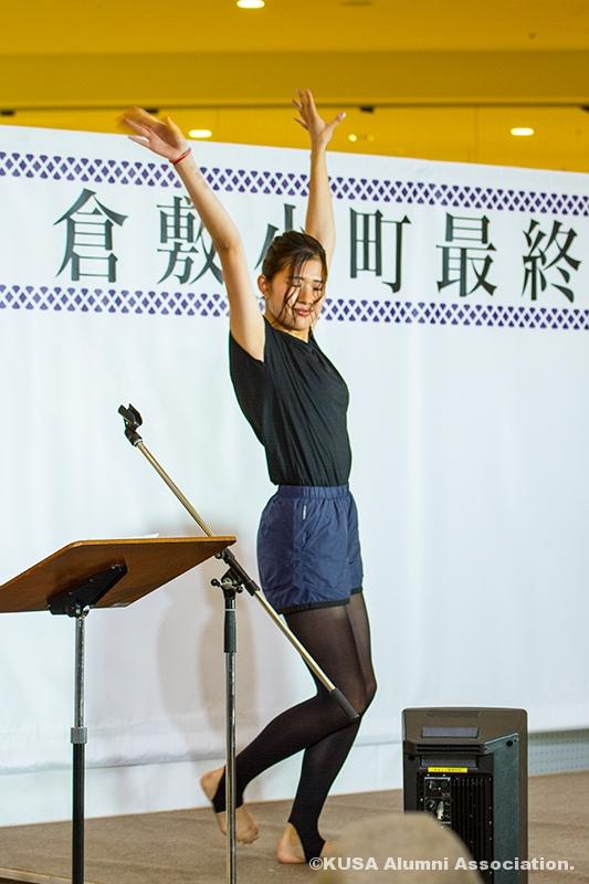 ダンスする枝園彩加さん