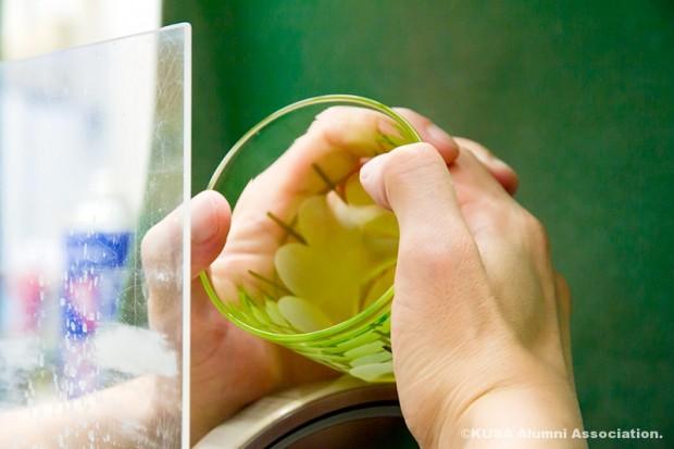 日浦さん制作のガラス作品