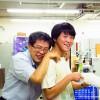 岡憲明教授と矢野浩章さん