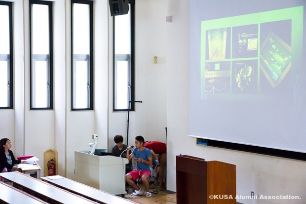 博物館展示論を受講中の学生