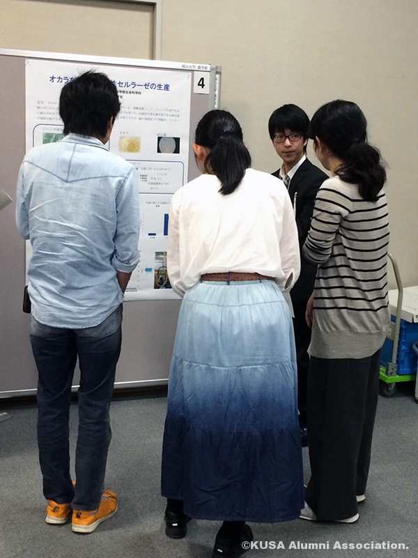 研究の内容を説明する山本晋司さん
