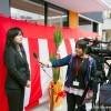 インタビューを受ける学生委員会委員長山本さん