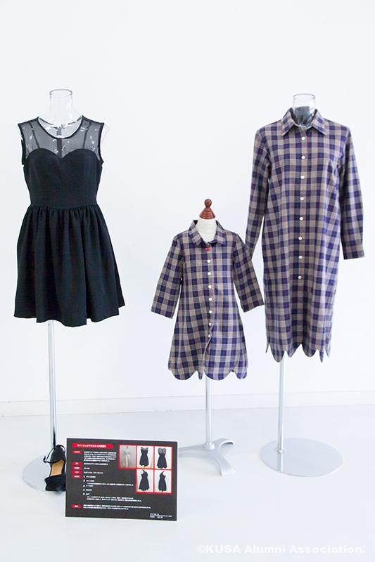 ファッションテキスタイル展の展示作品