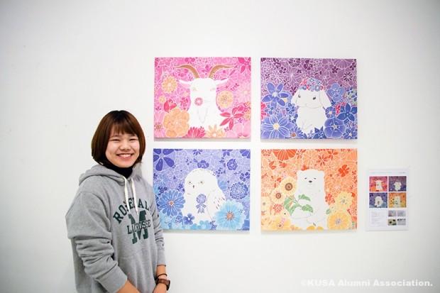 芸術学部デザイン芸術学科 4年次生 加藤 理紗さん