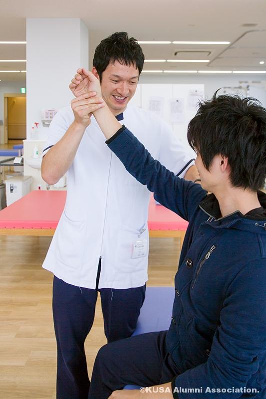 理学療法士として活躍する米田さん