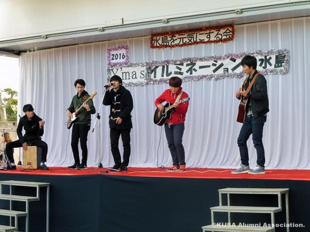 アコースティックギター部のステージ演奏