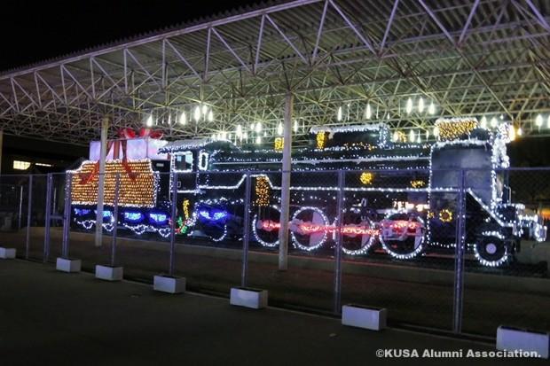 蒸気機関車のイルミネーション