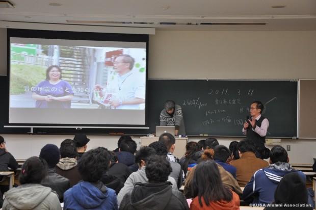 東日本大震災被災地視察をした時の映像