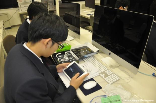 吉備高原学園高等学校情報システムコースの学生さん