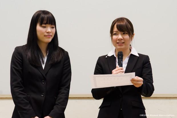 川村奈菜子さん(右)