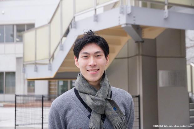 生命科学部健康科学科 4年次生 田中刑事さん