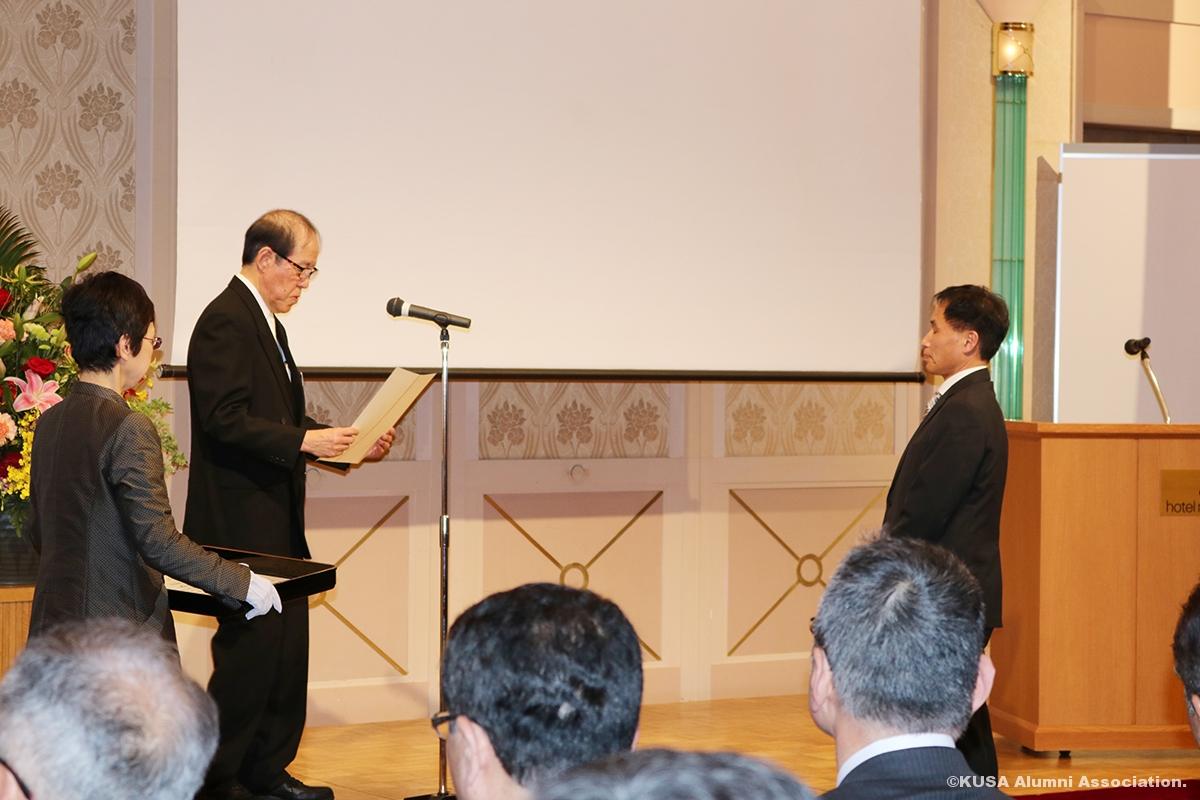 奈良県知事表彰授賞式の様子