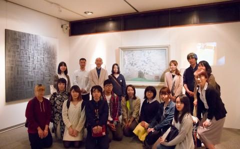 日本画ゼミの学外見学について