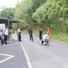 大学の道路でISU-1GPの練習