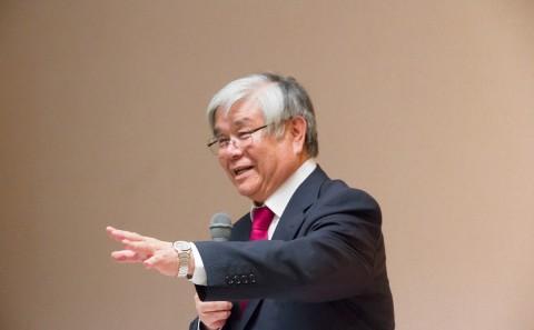 時任教授が木堂祭で講話を行いました。