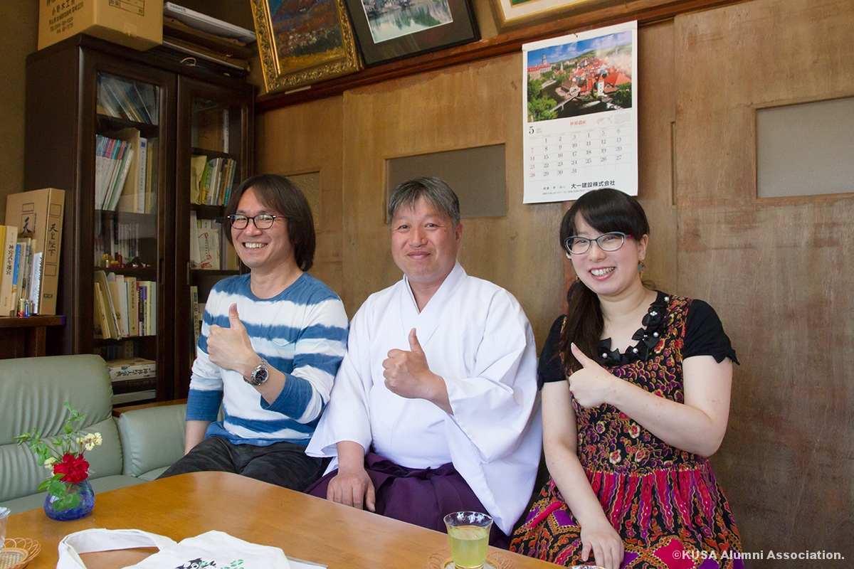 福田真人さんとメディア映像学科の教員
